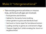 make it intergenerational