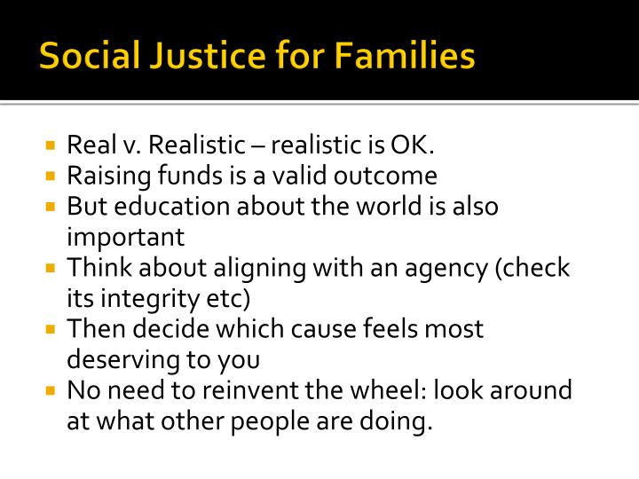 Social Justice for Families