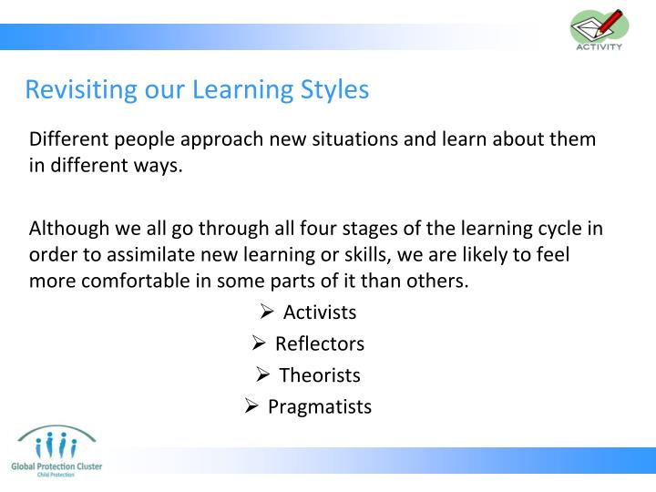 Revisiting our Learning Styles