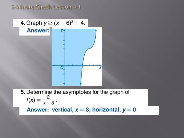 5-Minute Check Lesson 4-1