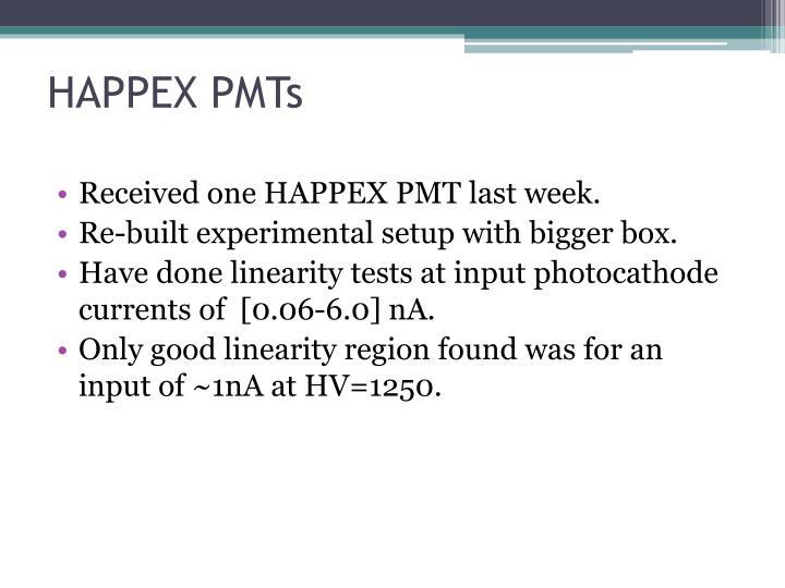 HAPPEX PMTs