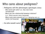 who cares about pedigrees