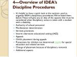 4 overview of idea s discipline procedures