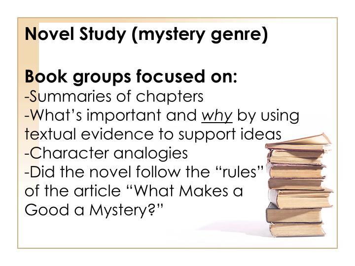 Novel Study (mystery genre)
