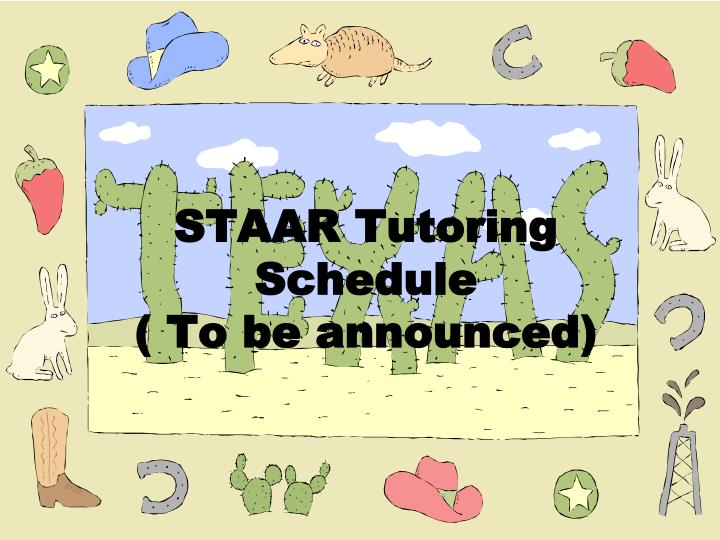 STAAR Tutoring Schedule