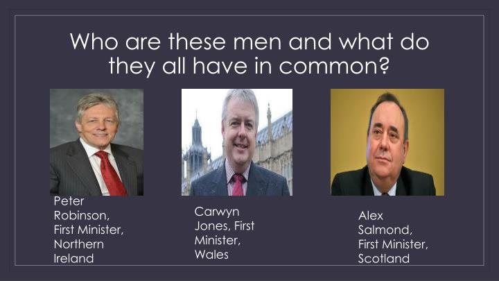 Who are these men and what do they all have in common