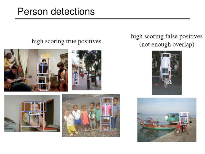 Person detections