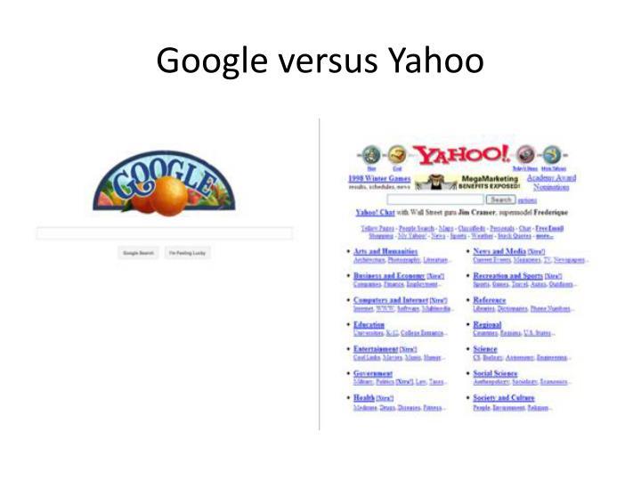 Google versus Yahoo