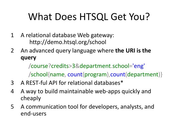 What Does HTSQL Get