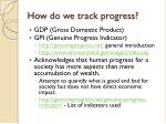 how do we track progress