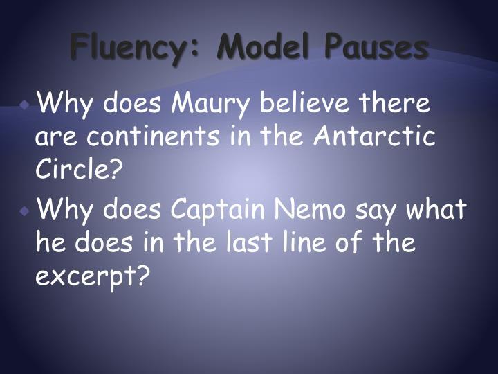 Fluency: Model Pauses