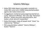 islamis melayu