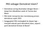 pas sebagai demokrat islam