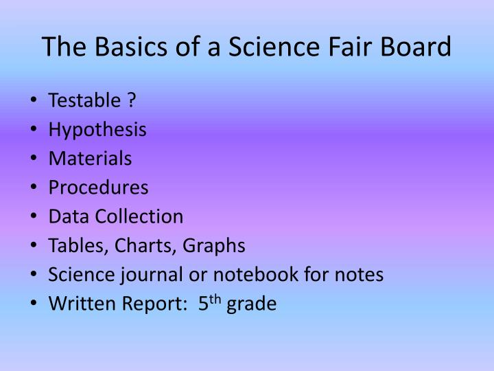 The Basics of a Science Fair Board