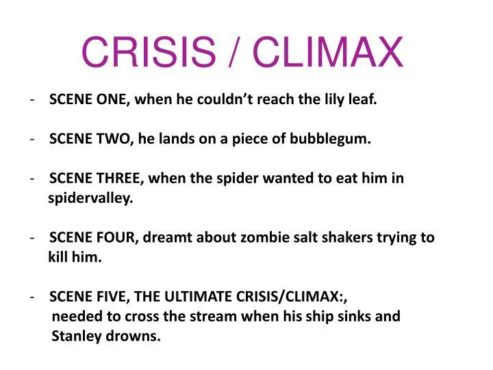 CRISIS / CLIMAX