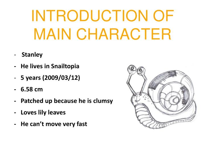 INTRODUCTION OF MAIN CHARACTER