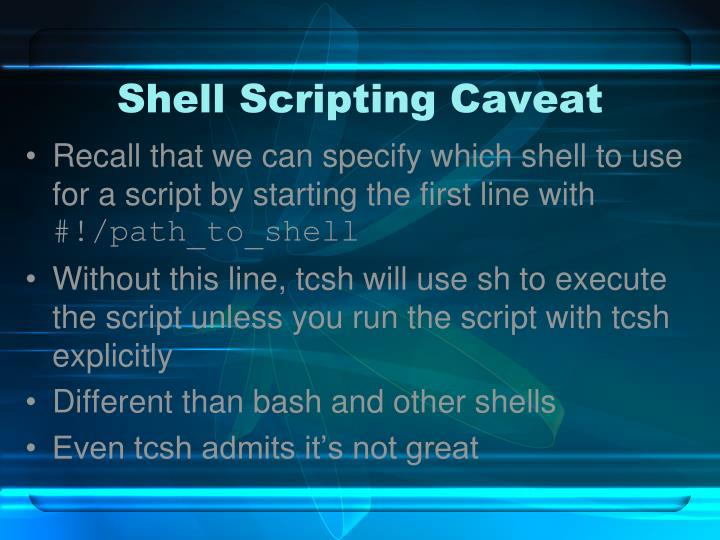 Shell Scripting Caveat