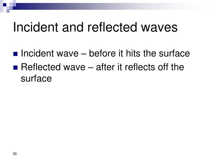 Incident and reflected waves