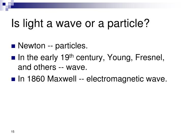 Is light a wave