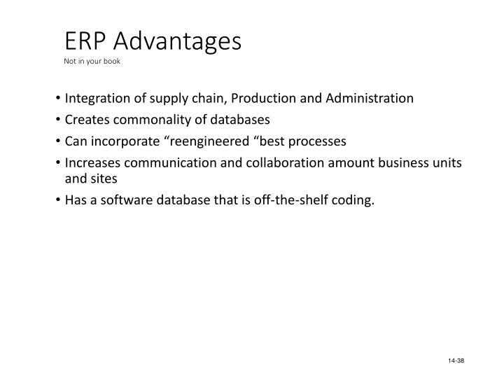 ERP Advantages