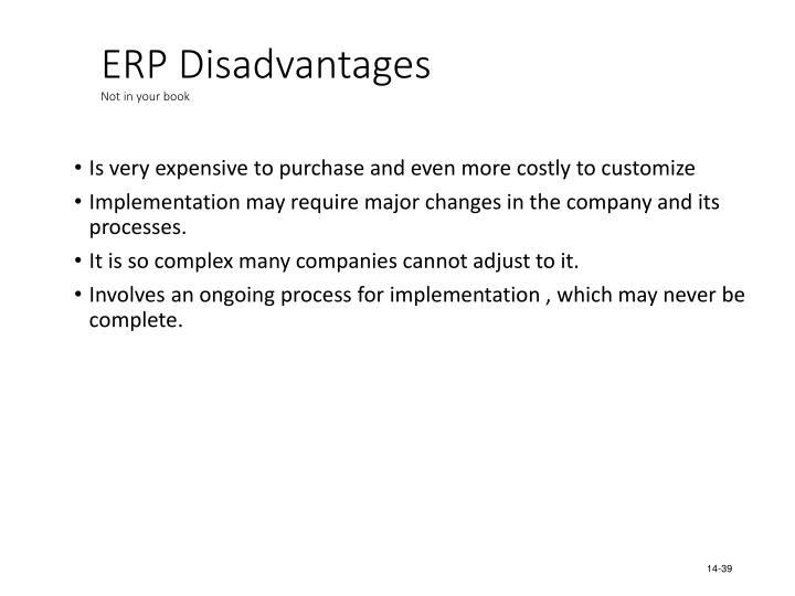 ERP Disadvantages