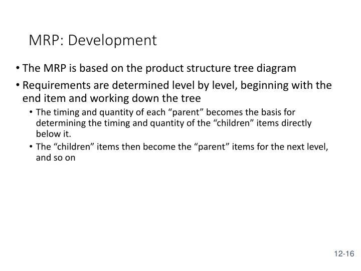 MRP: Development