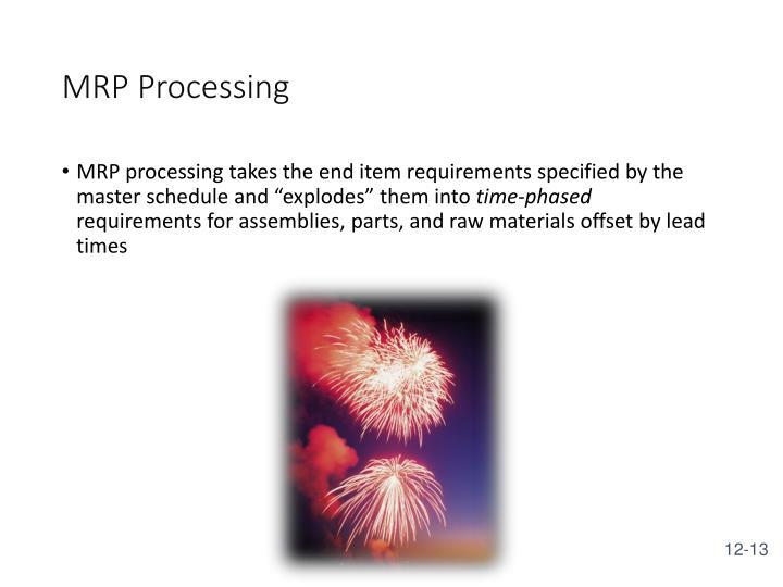 MRP Processing