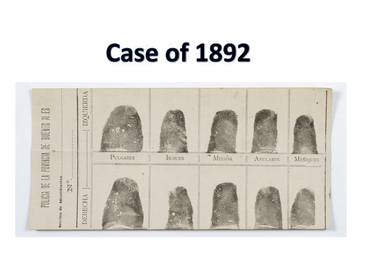 Case of 1892