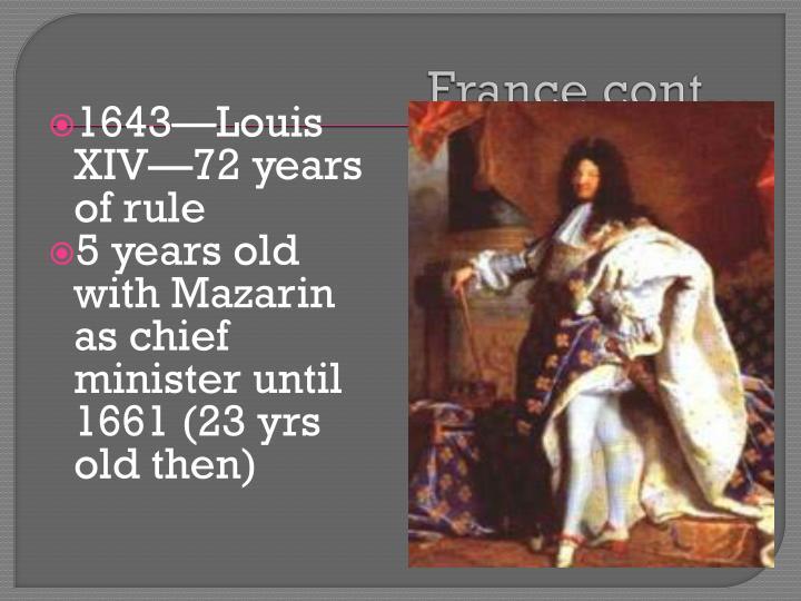 France cont…