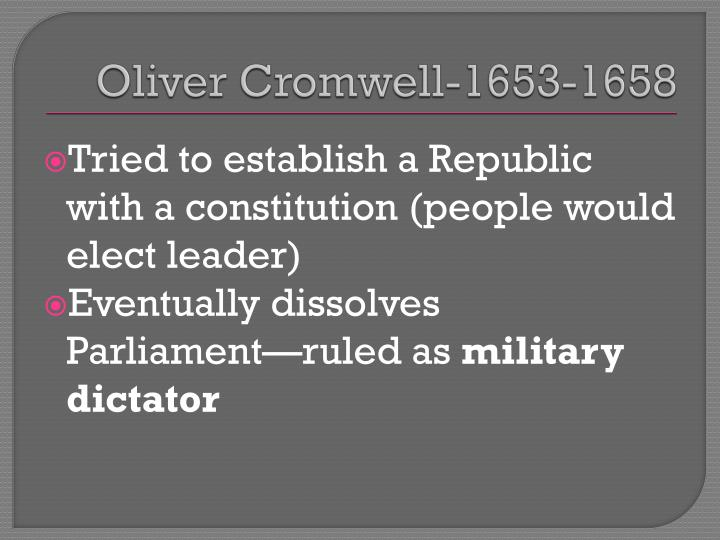 Oliver Cromwell-1653-1658