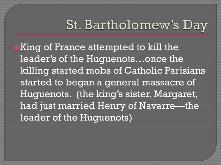 St. Bartholomew's Day