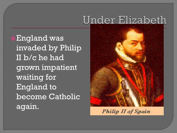 Under Elizabeth