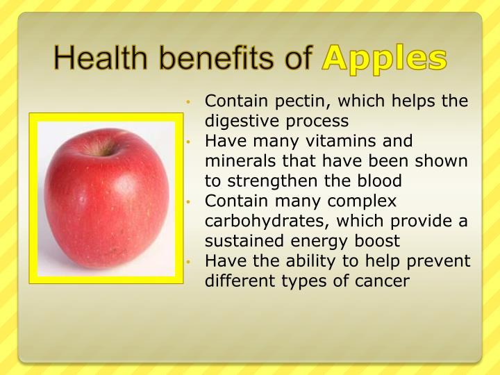 Health benefits of