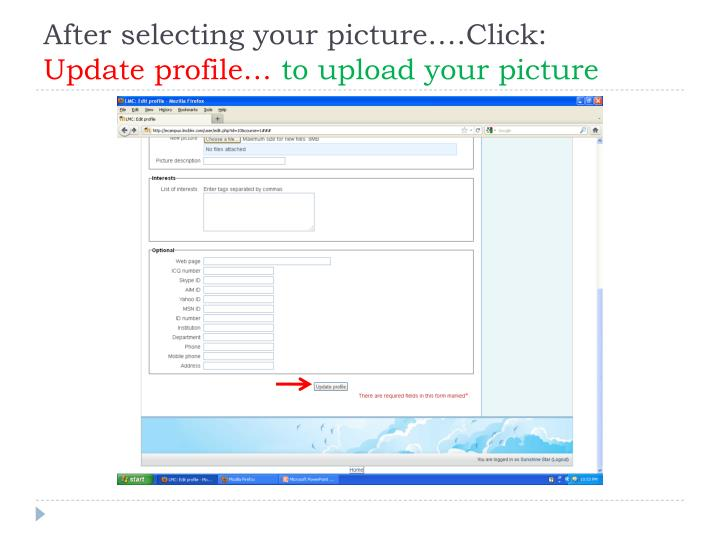 After selecting your picture….