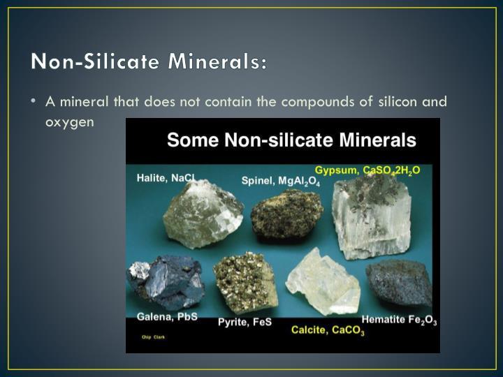 Non-Silicate Minerals: