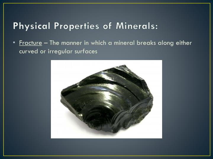 Physical Properties of Minerals: