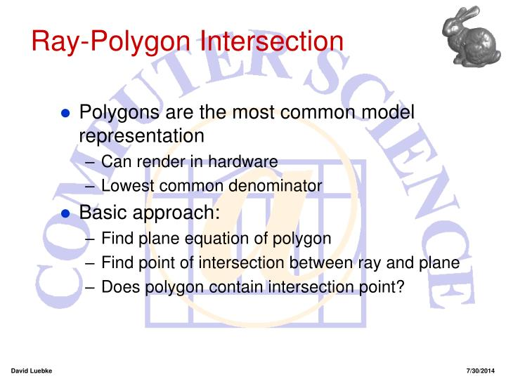 Ray-Polygon Intersection