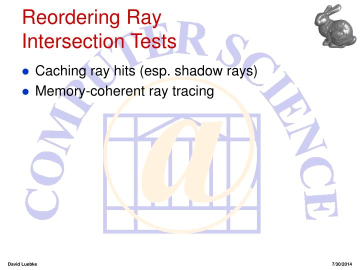 Reordering Ray