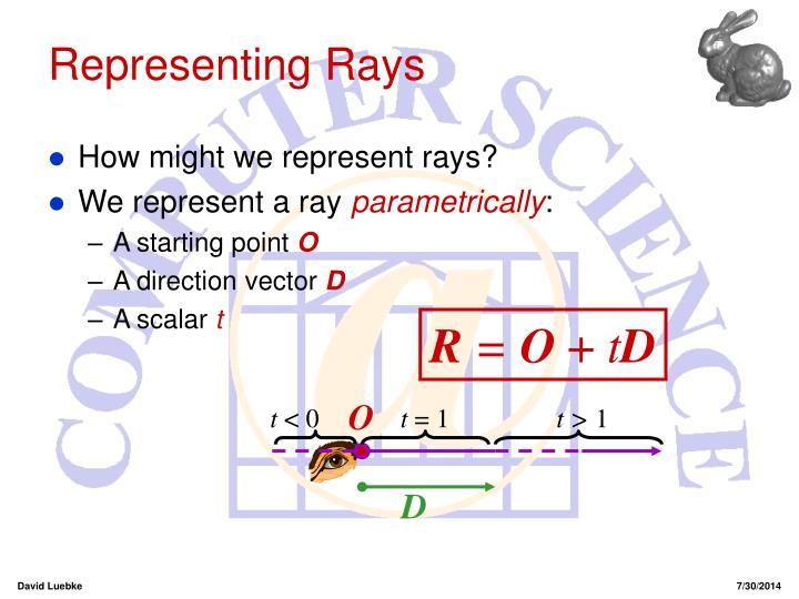 Representing Rays