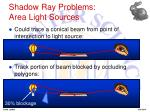 shadow ray problems area light sources