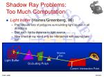 shadow ray problems too much computation