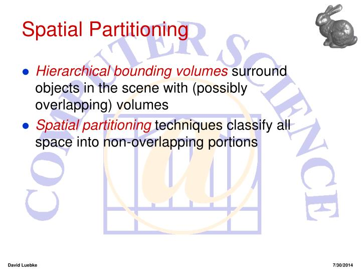 Spatial Partitioning