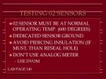 testing 02 sensors