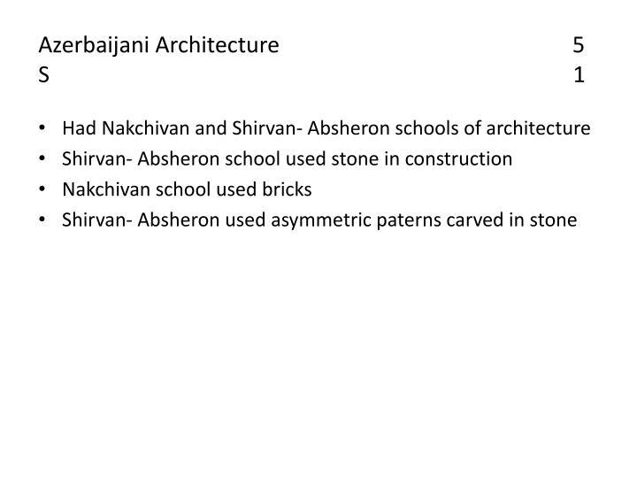 Azerbaijani Architecture                                                    5