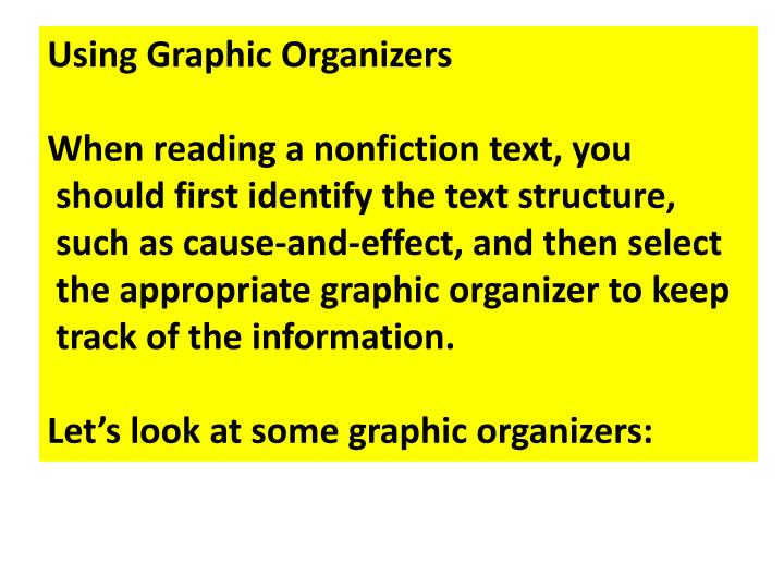 Using Graphic Organizers