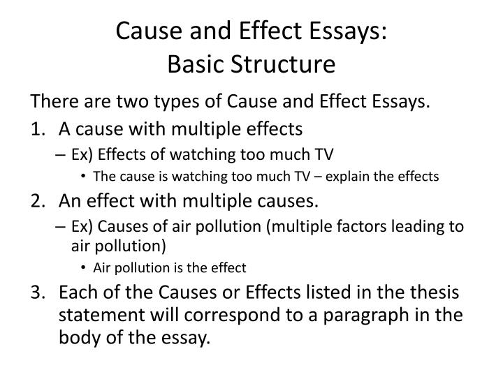 Cause and Effect Essays: