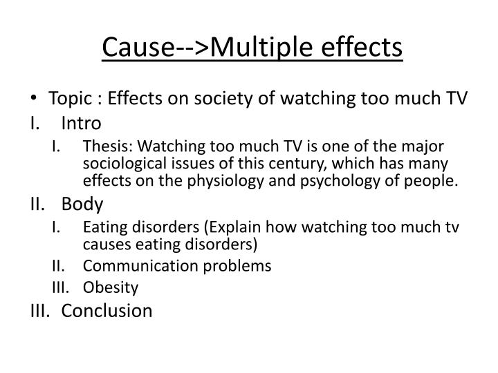 Cause-->Multiple effects