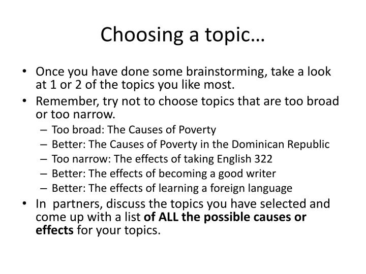 Choosing a topic…