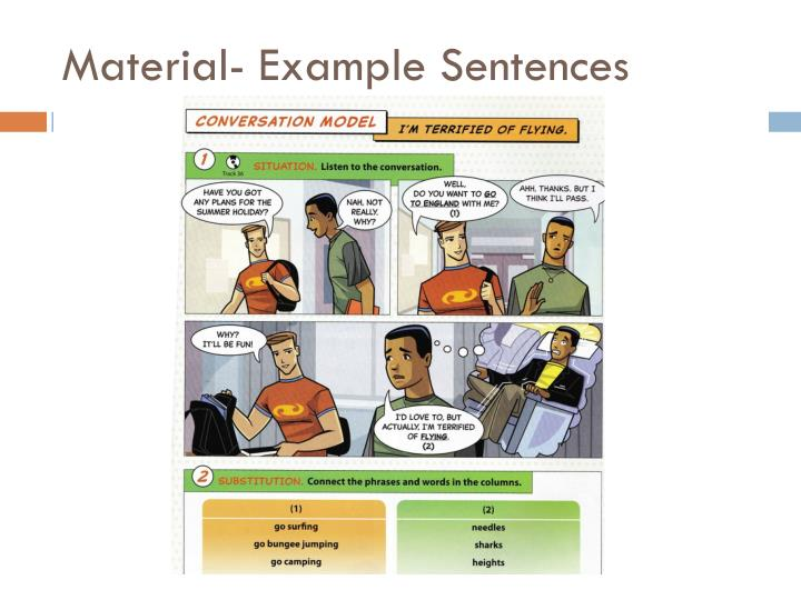 Material- Example Sentences