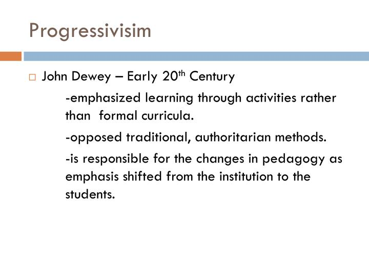 Progressivisim